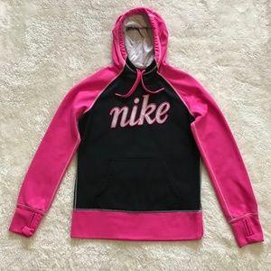 Nike Pullover Hoodie Hot Pink Black Thumb Holes M